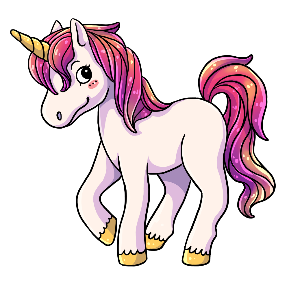 1000x1000 Collection Of Unicorn Clipart Images High Quality, Free