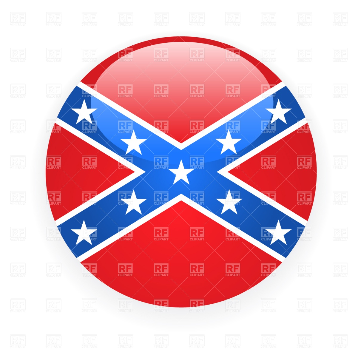 1200x1200 Confederate Rebel Flag Icon Royalty Free Vector Clip Art Image