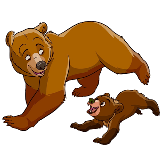 320x320 Mother And Baby Bear