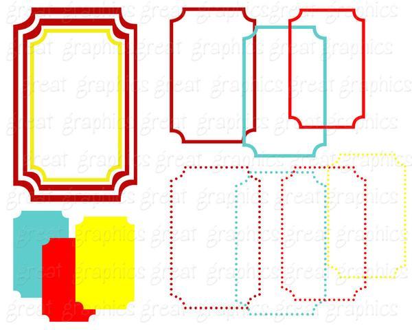 600x480 Rectangle Frame Digital Clip Art Digital Frame Clipart Printable