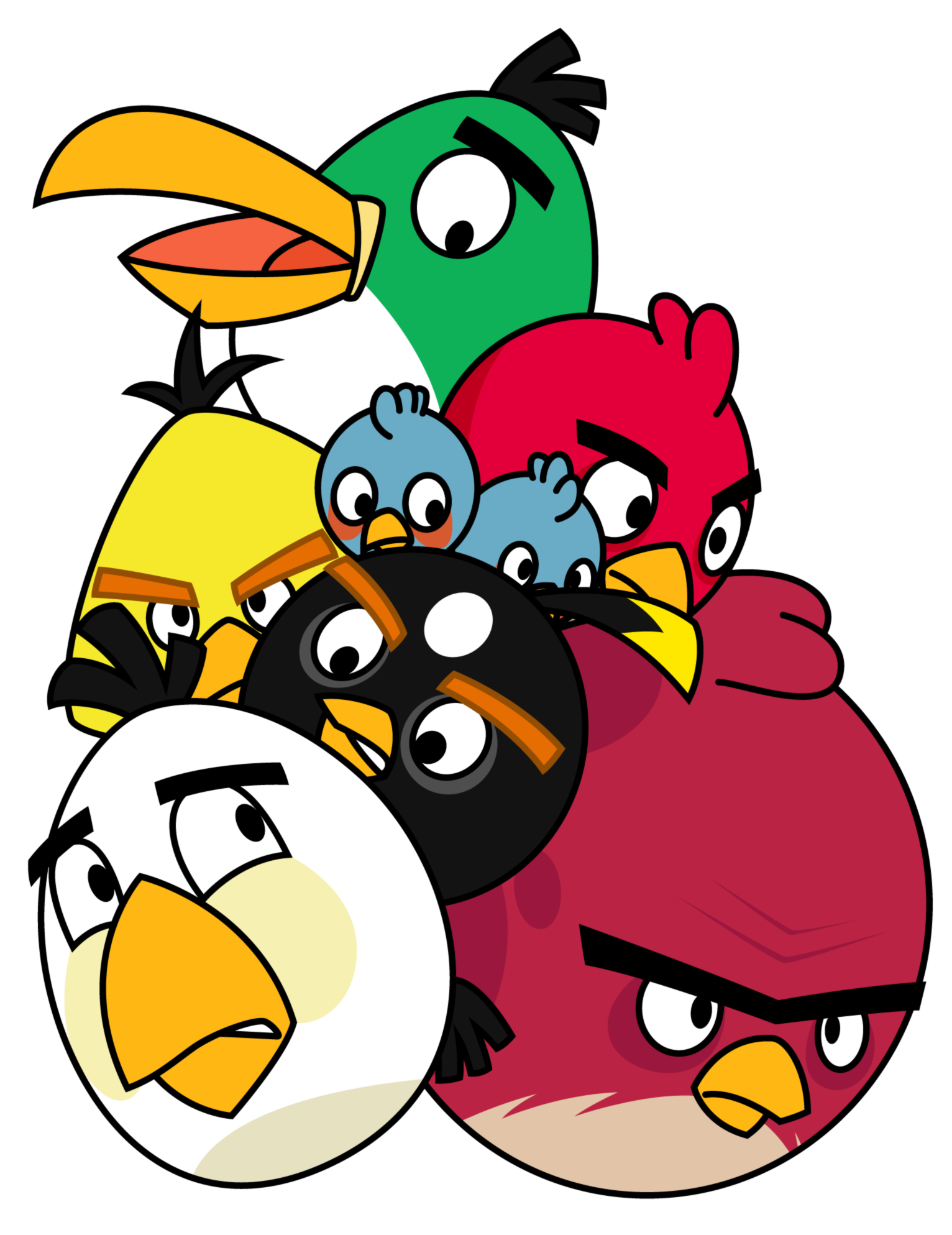 1532x1987 Pile Of Angry Birds By Gav Imp
