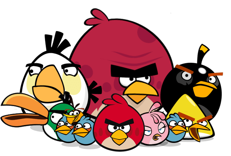754x510 Angry Birds Group Transparent Png