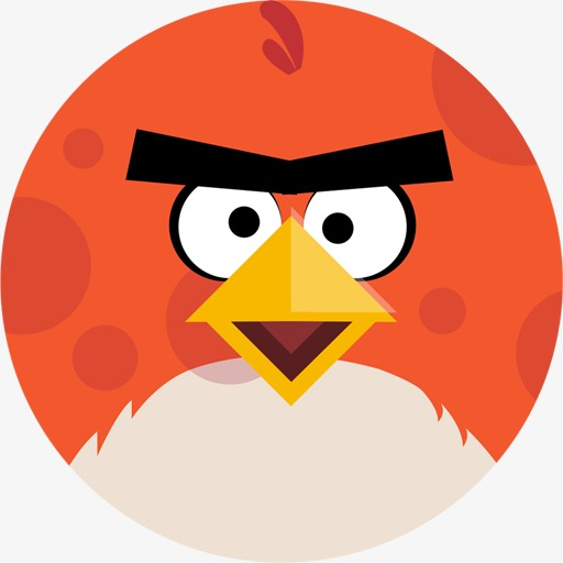 512x512 Angry Birds Icon, Angry Bird, Red, Round Png Image And Clipart