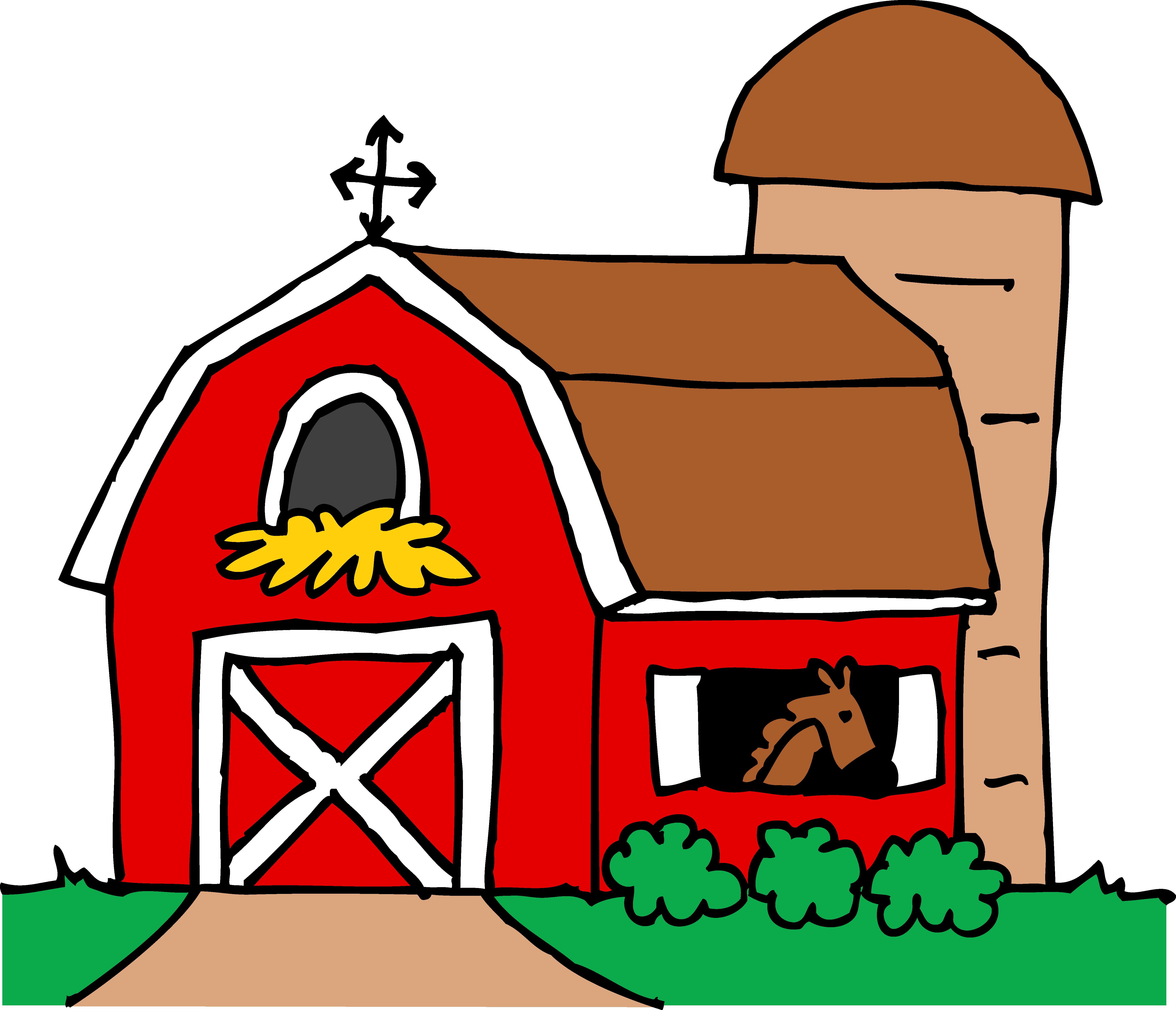 5583x4793 Little Red Barn Clipart