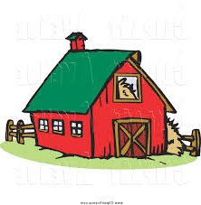 222x227 Red Barn (Amazing Barn Images Clip Art