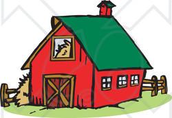250x172 Farm Barn Clipart 7929366 Barn With Granary Illustration