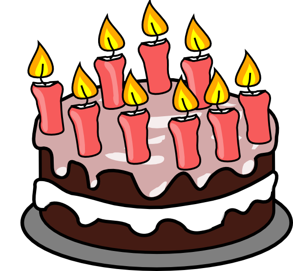 600x555 Birthday Cake With Candle Transparent Clip Art Image Gallery Red