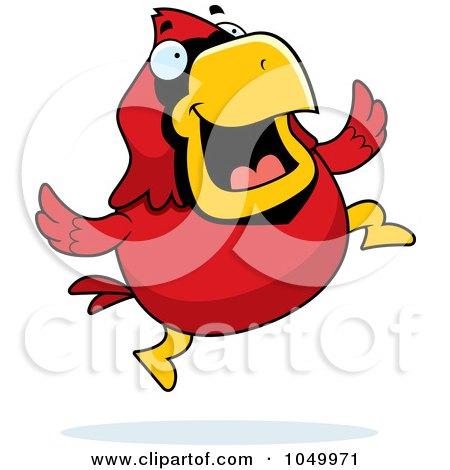 450x470 Clipart Chubby Cardinal Playing Tennis