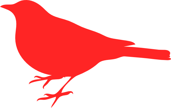 600x380 Red Love Bird Clip Art