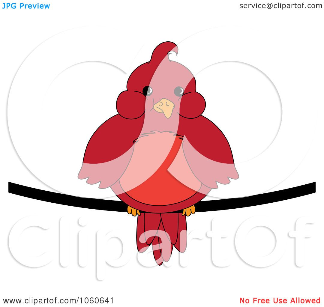 1080x1024 Royalty Free Vector Clip Art Illustration Of A Chubby Red Cardinal