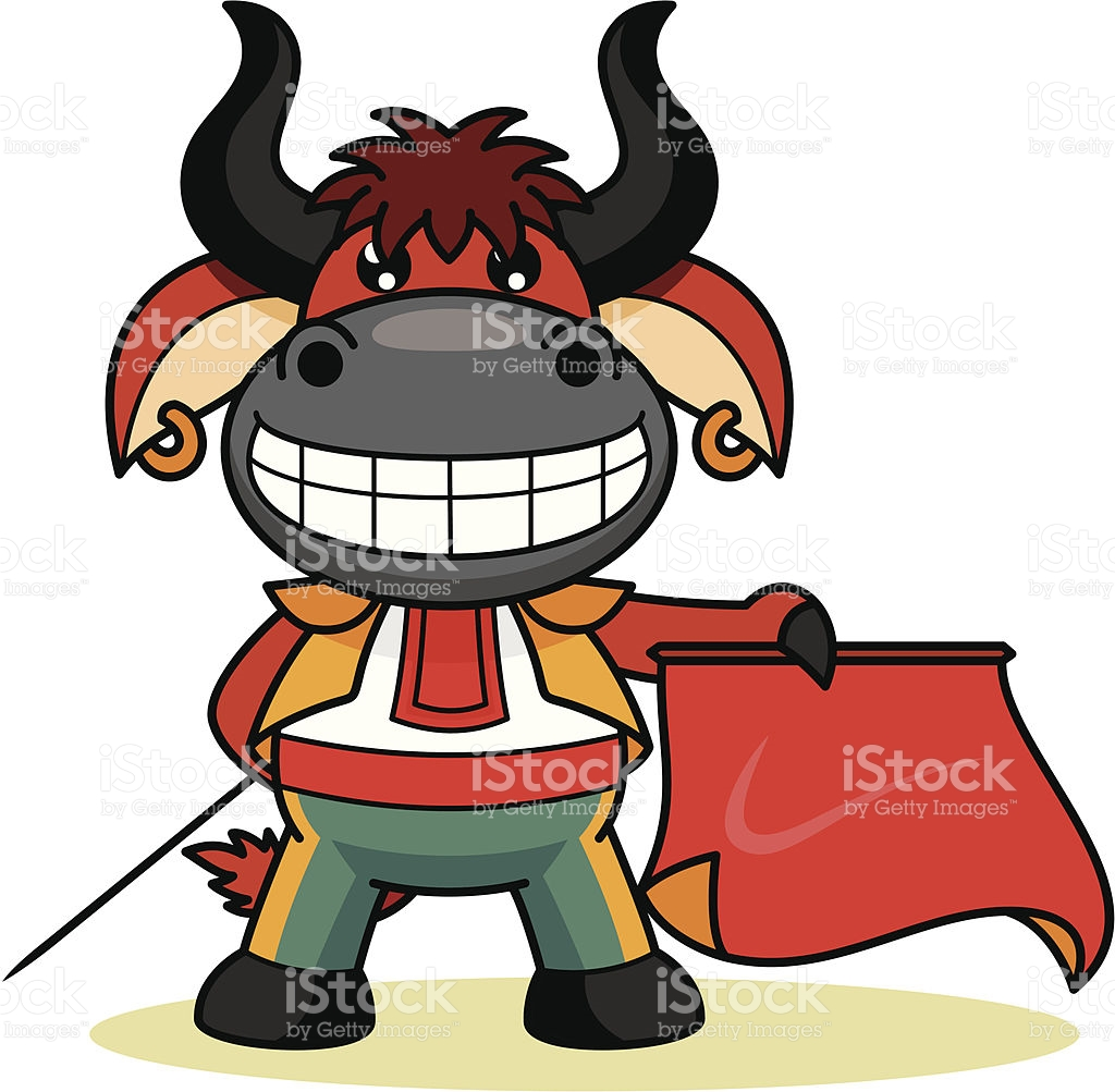 1024x1003 Red Bull Clipart Funny Cartoon