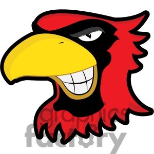 300x300 Clip Art Of Cardinal Mascot Showing Teeth By Graphics Factory