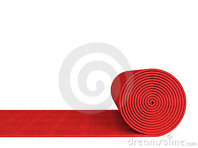 400x300 Red Carpet Roll Clipart