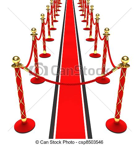 450x470 A Red Carpet And Velvet Rope On A White Background Stock