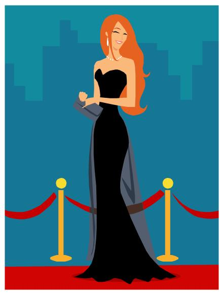 440x578 Red Carpet Clipart Celebrity