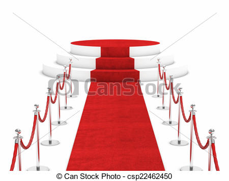 450x357 Red Carpet And Rope Barrier Stock Illustrations