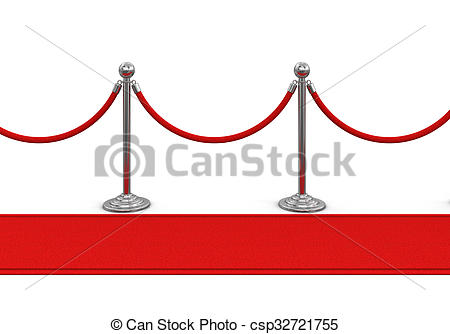 450x334 Red Carpet And Stanchions. Image Stock Illustrations