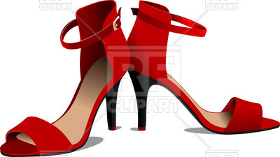 400x225 Red Women Shoes Royalty Free Vector Clip Art Image