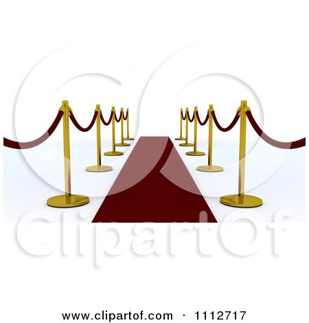 450x470 Clipart 3d Velvet Ropes And Golden Poles Along A Red Carpet