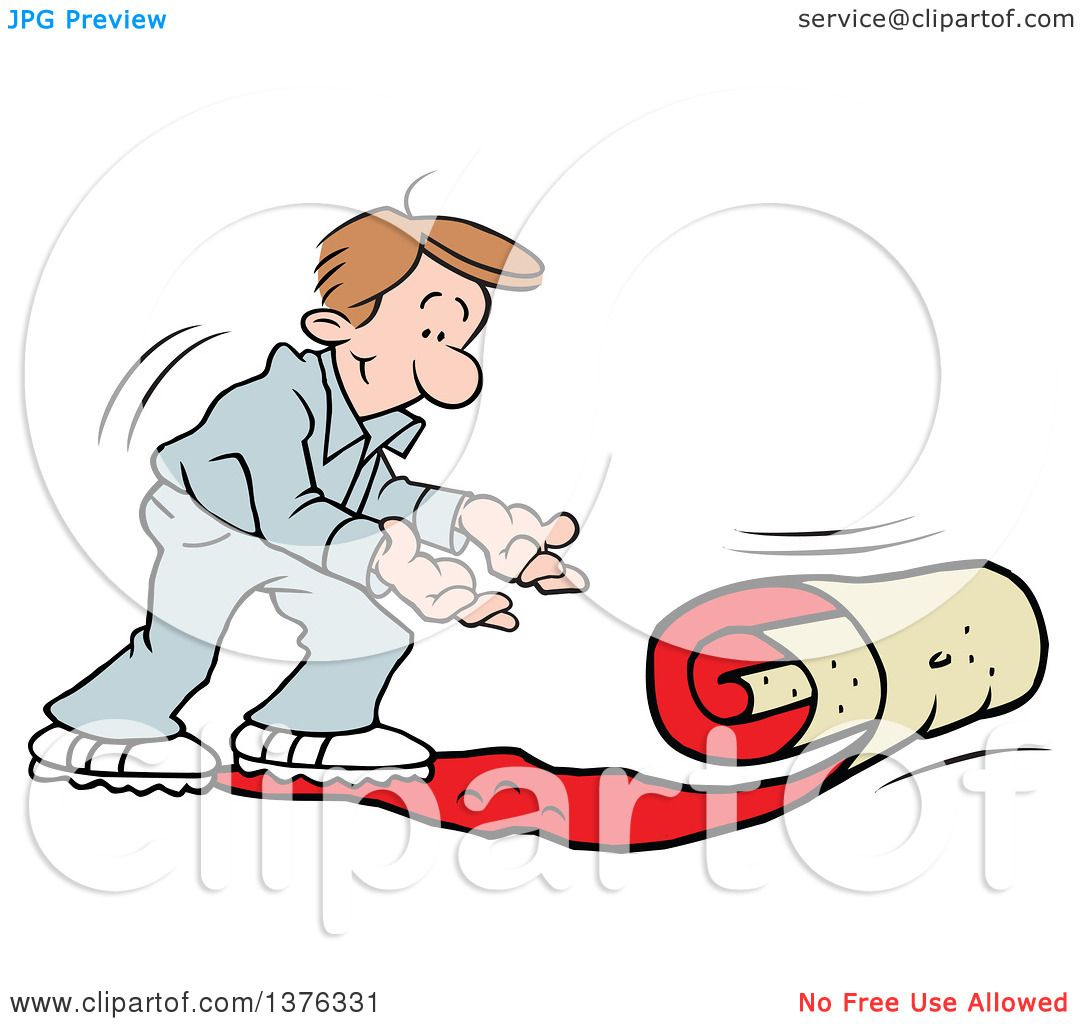 1080x1024 Clipart Of A Caucasian Man Rolling Out The Vip Red Carpet