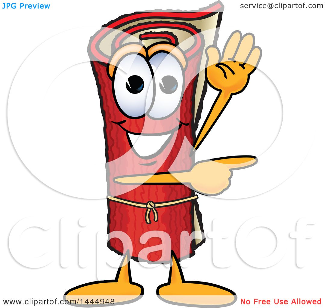 1080x1024 Clipart Of A Red Carpet Mascot Cartoon Character Waving