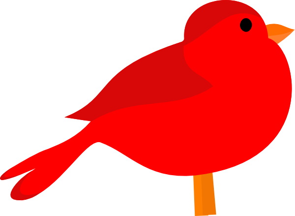 600x439 Free Clip Art Red Birds