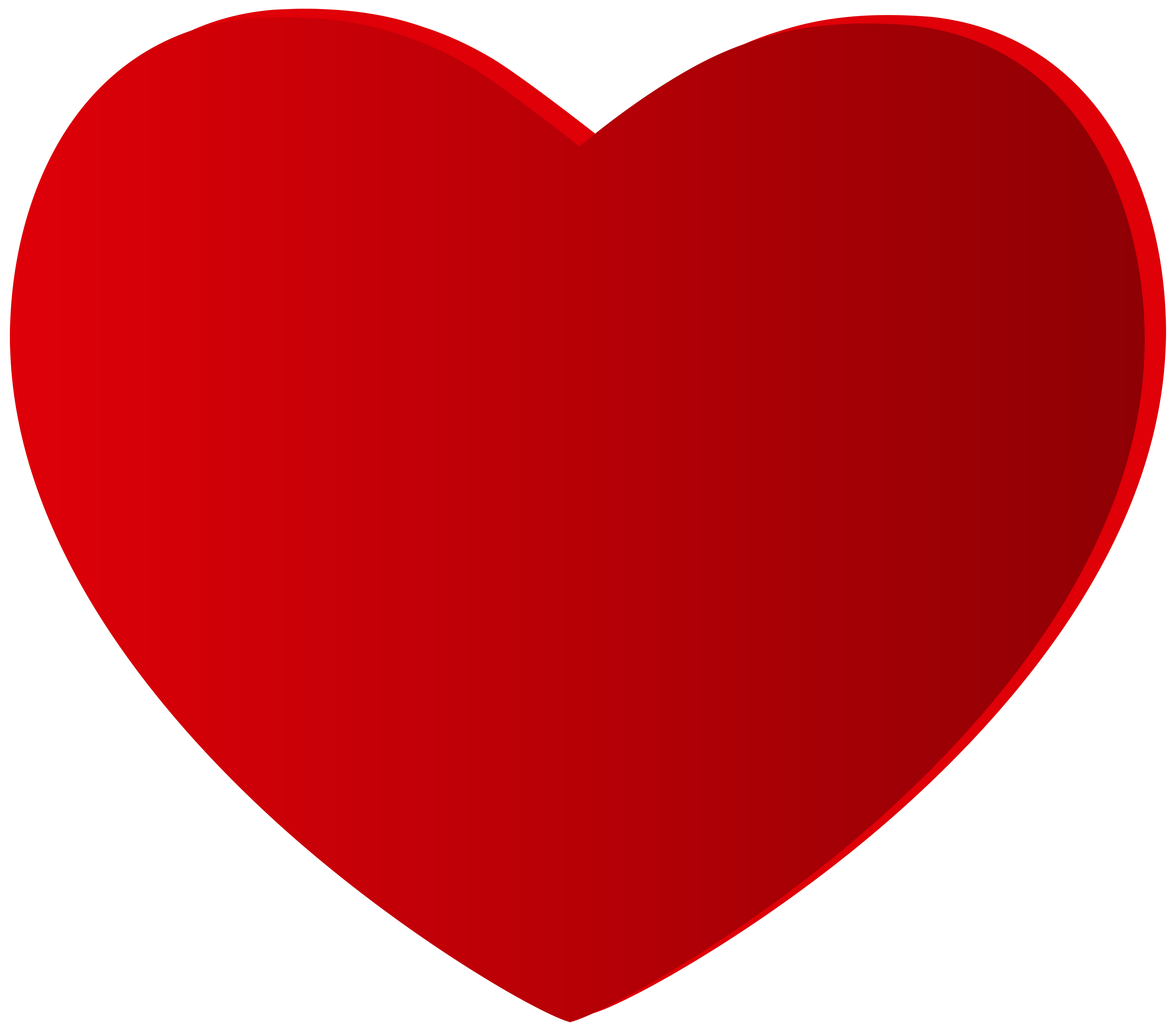 5000x4387 Large Red Heart Png Clipart