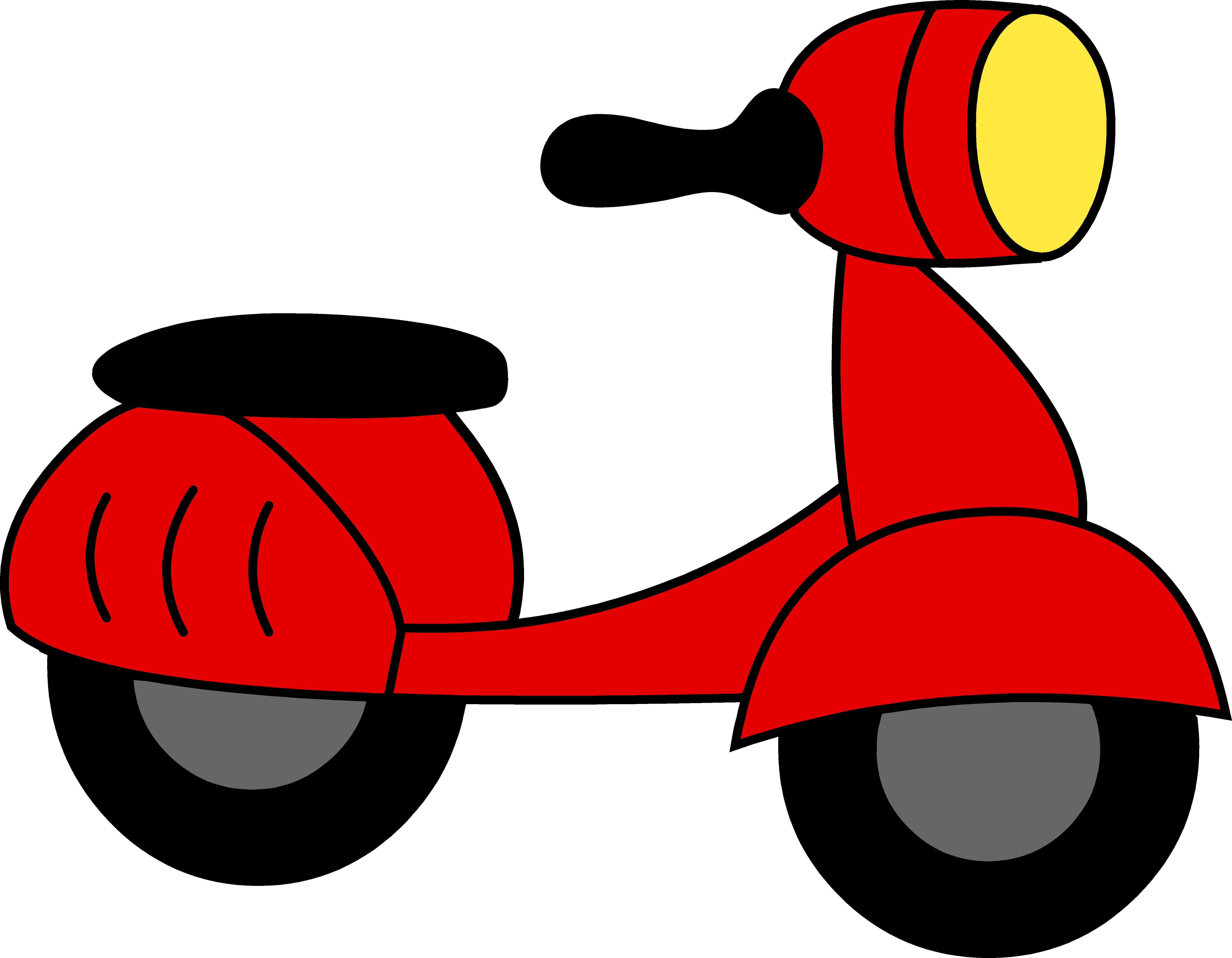 5821x4529 Little Red Motor Scooter