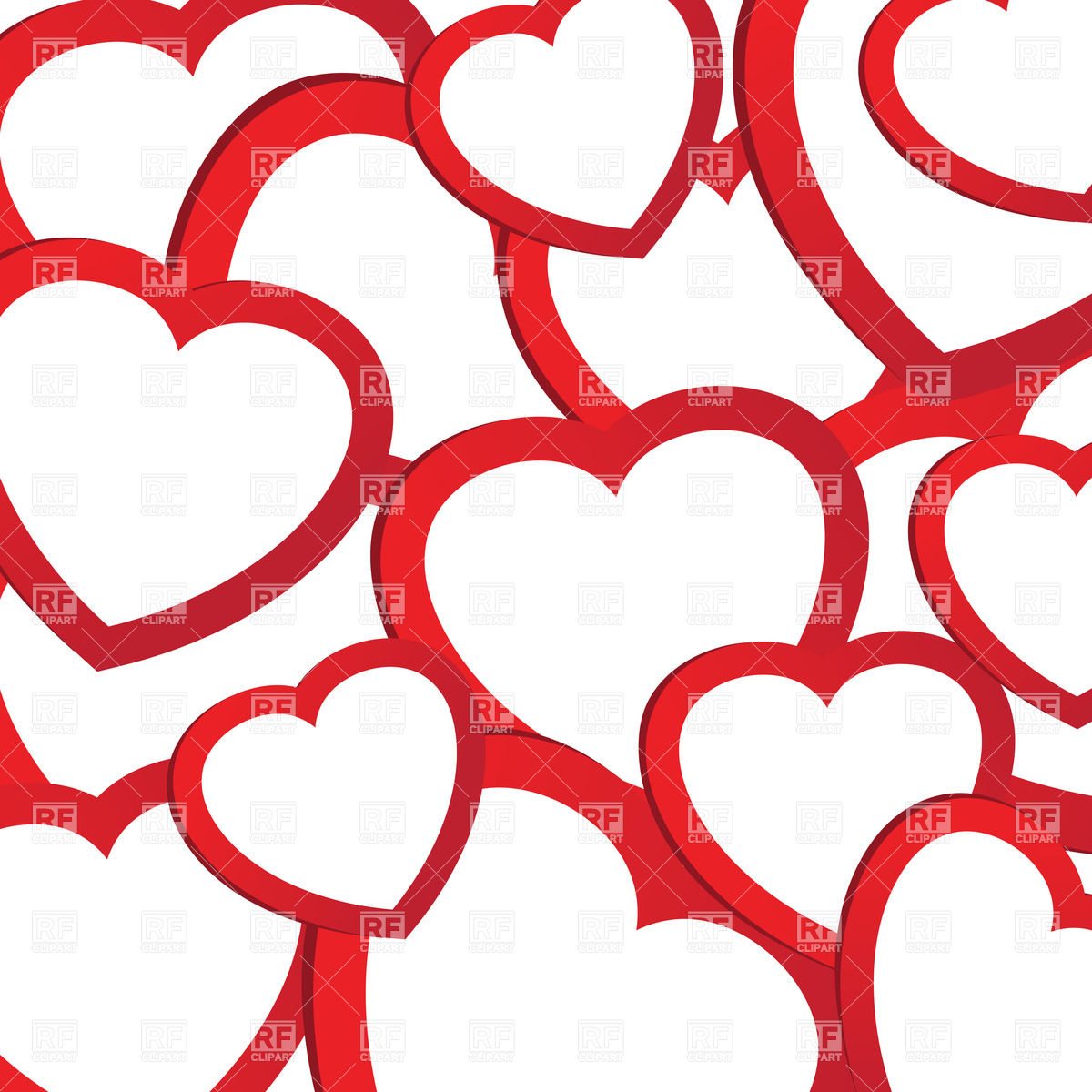 1200x1200 Background With Stylized Red Valentines Royalty Free Vector Clip