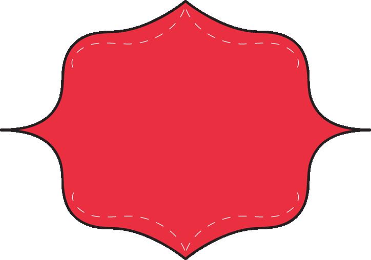 724x508 Red Clip Art Frame