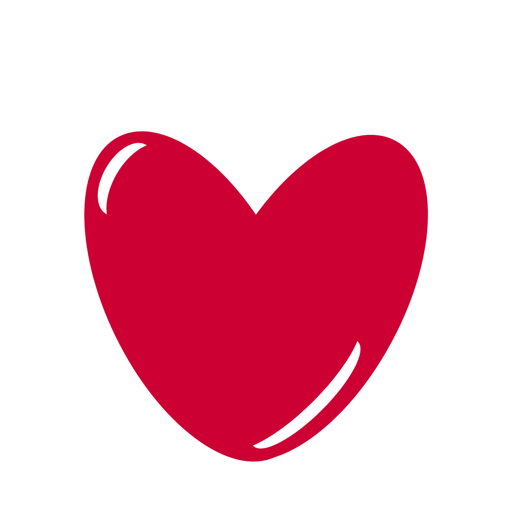 1080x1080 Red Heart Png Clip Art