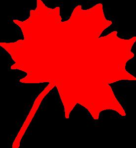 276x299 Red Leaf Clip Art