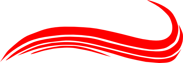 600x208 Swoosh Red Clip Art