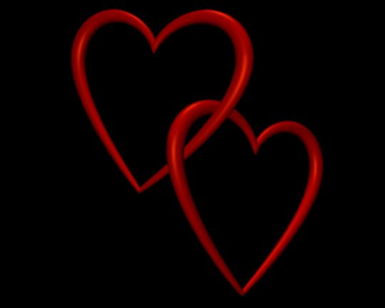 540x432 Entangled Red Love Hearts Transparent Background Valentine Clip