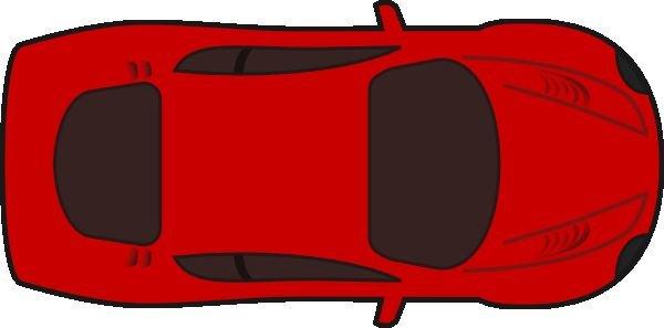 600x297 Clipart Red Crayon Unique Unique Red Car Top View 0d Clip Art