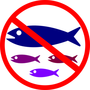300x300 No Fishing Sign Clip Art
