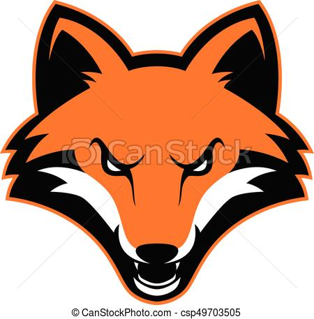 450x457 Fox Head Mascot. Clipart Picture Of A Fox Head Cartoon Vector