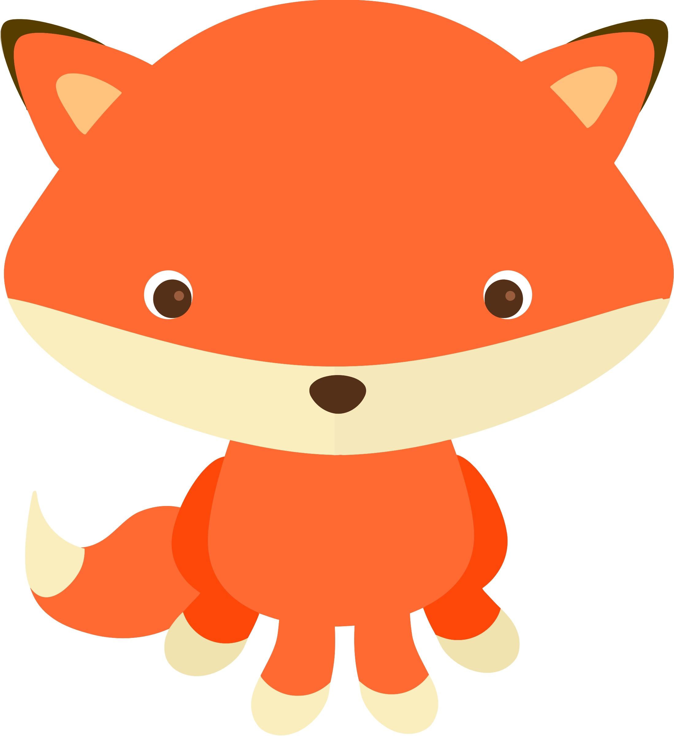 2198x2400 Fresh Cute Fox Clipart Design