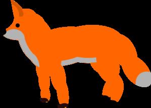 299x213 Orange Fox Clip Art