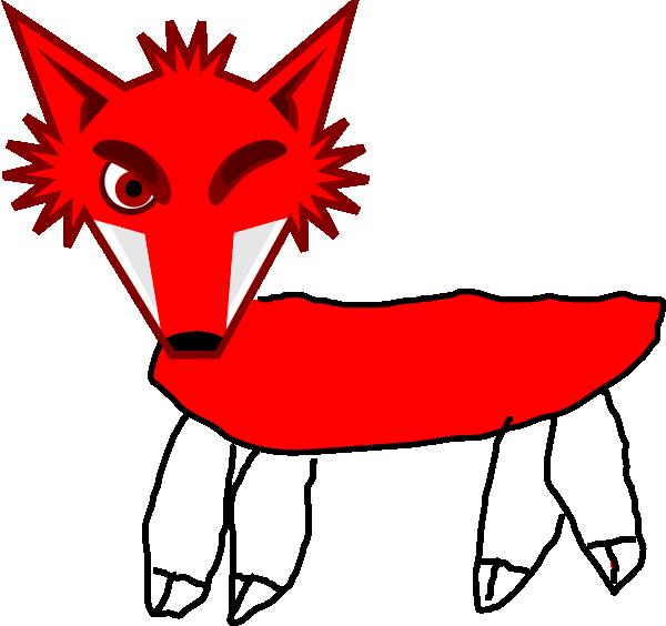 600x564 Red Fox Warrior Clip Art