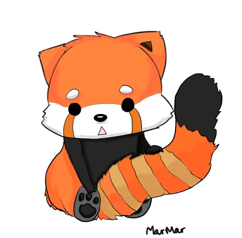 800x787 Chibi Red Panda Red Panda By Echohearts Cute Animal Artwork