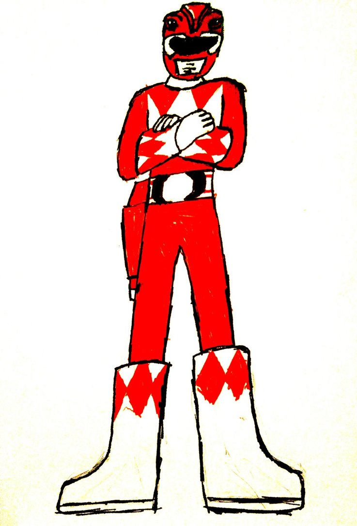737x1085 Migthy Morphin Power Rangers Red Ranger By Prowlfan1011