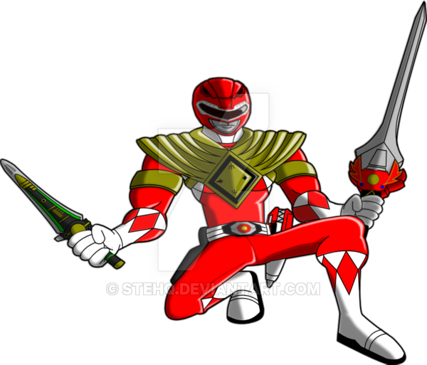 600x513 Power Rangers Animated Red Ranger (Armored) 2015 By Stehq