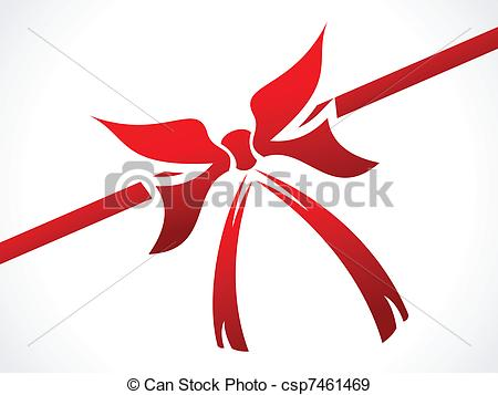 450x357 Abstract Red Ribbon For Gift Vector Illustration Eps Vectors