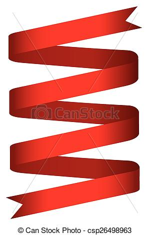 300x470 Simple Red Ribbon Label Shiny Red Ribbon Label, Isolated Clip