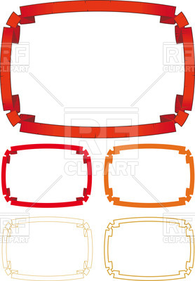 278x400 Square Frame Made Of Red Ribbon Royalty Free Vector Clip Art Image