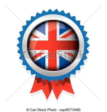 450x470 Uk Badge With Red Ribbon Eps Vectors