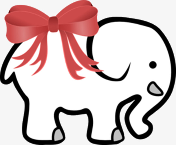 608x500 White Elephant Clip Art Red Ribbon White Elephant White Elephant