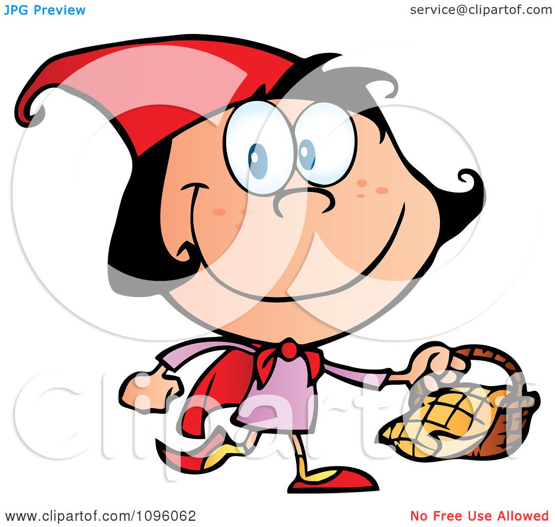 1080x1024 Clipart Happy Red Riding Hood Walking With A Basket
