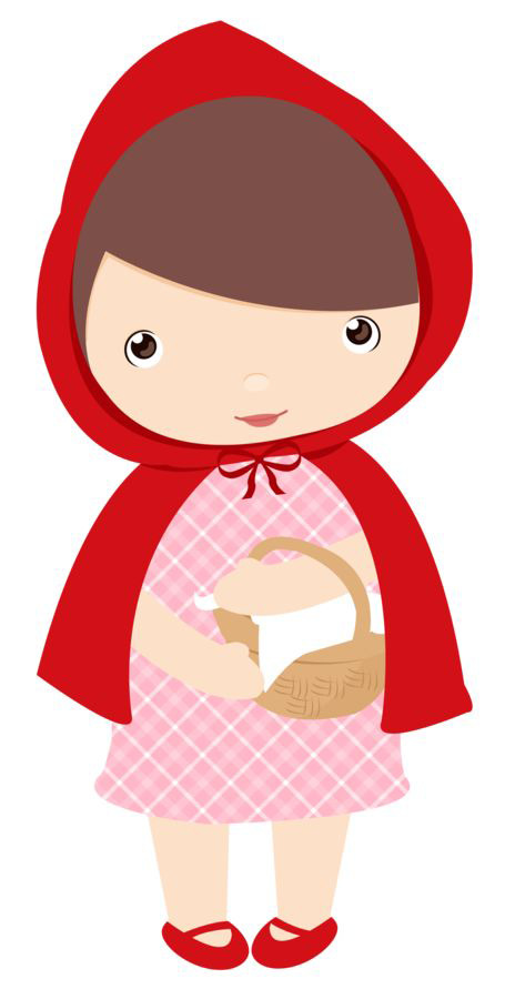 464x900 Cartoon Cute Little Red Riding Hood, Little Girl, Cartoon
